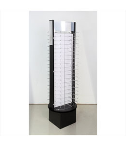 eyewear rotary display for 120 pairs 2 mirrors, sign-holder