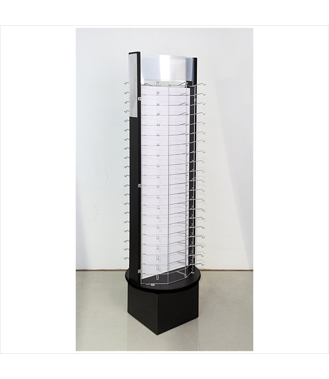 eyewear rotary display for 120 pairs 2 mirrors sign-holder