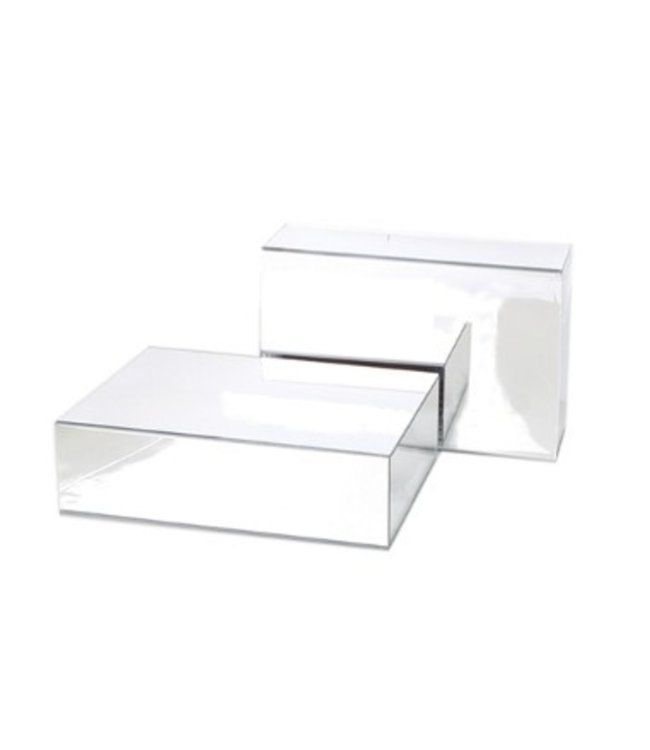"""Acrylic mirror display podium for shoes 10""""(L) x 8""""(W) x 3""""(H)"""
