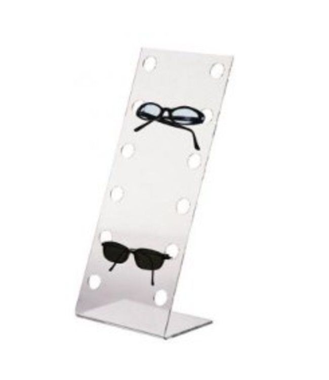 Eyewear countertop acrylic display for 6 pairs