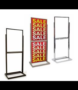 """Porte-affiche 2 niveaux 22'' x 28'', base 24"""" x 15"""", hauteur 59"""""""