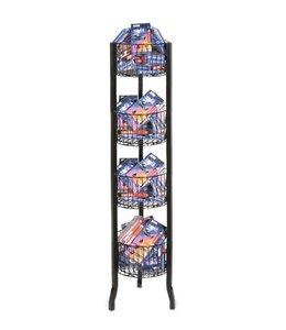 Panier rond multi-usage en grille à 4 étages
