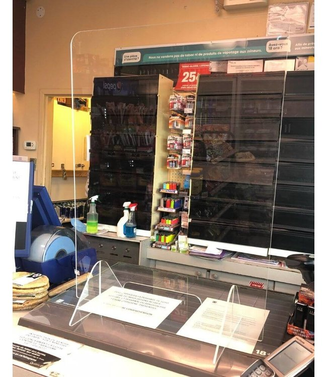 Écran antivirus en acrylique de comptoir