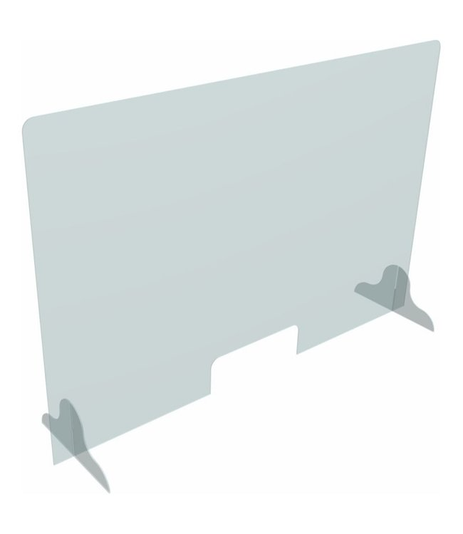 "Sneeze guard | Acrylic Protection Panel 48""W x 31.5""H x 3/16"" thick"