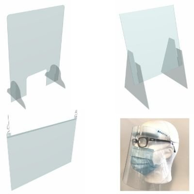 Sneeze guard and acrylic Face Shield
