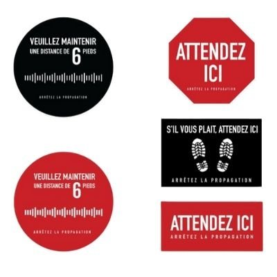 Floor sticker for Crowd Control