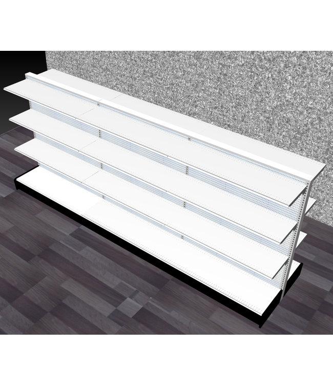 "Double-Sided shelving units | gondola Display, section 60""H x 144""W x16"" base"