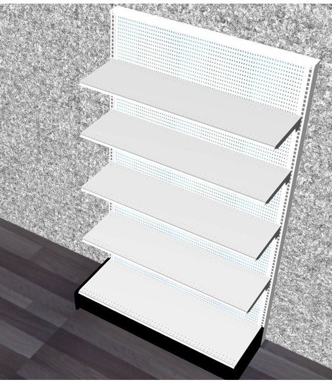 "Single-sided shelving units | gondola Display - 84H"" x 48""W x 16"" Base"