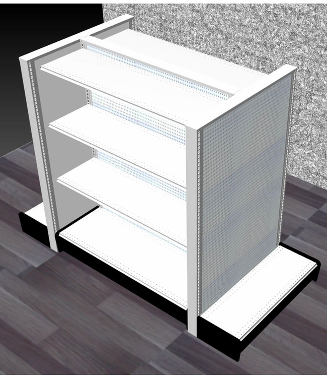 Double-Sided units | gondola Display, section 48'' x  60'' H  x 16'' P