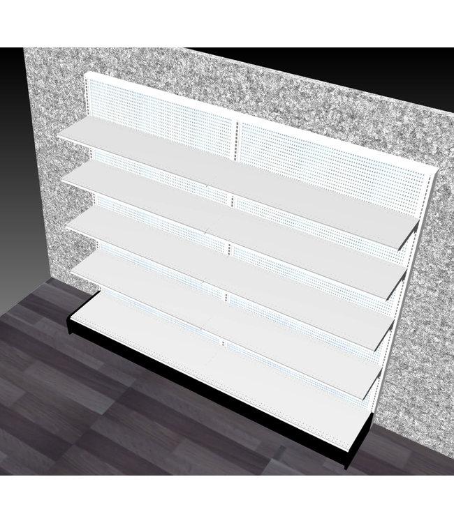"Single-sided shelving units | gondola Display - 84""H x 96""W x 16""base"