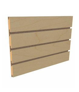 """Slatwall Panel 96""""x 48''H grooved on the 96"""", maple"""