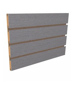 """Slatwall Panel 96""""x 48''H grooved on the 96"""", brushed aluminum"""