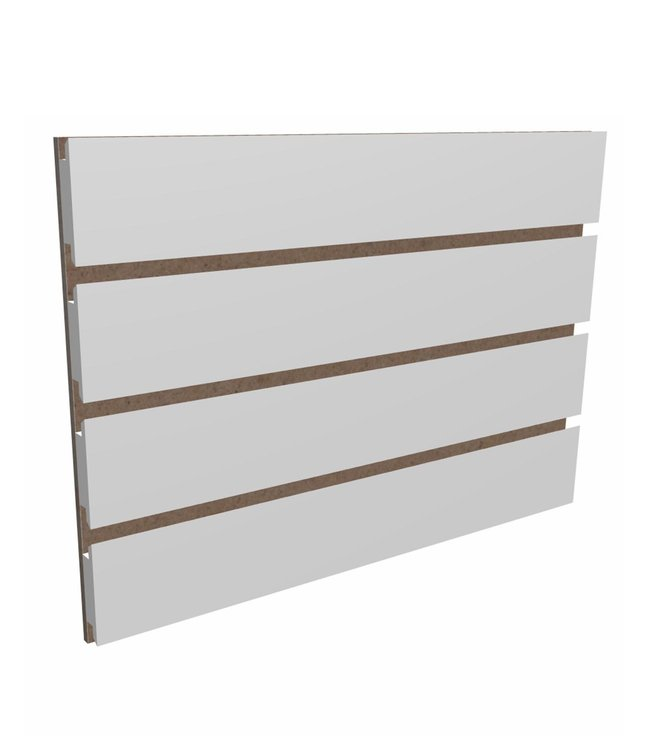 """Slatwall Panel 96""""x 48''H grooved on the 96"""", white"""