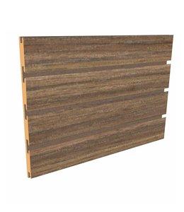 "Slatwall Panel 96""x 48''H | Choco mousse."