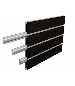 "96 ""x 48''H Slatwall Panels | Heavy-Duty Inserts | Black."