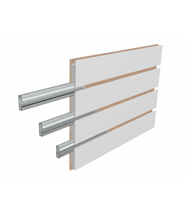 "96 ""x 48''H Slatwall Panels | Heavy-Duty Inserts | White Slatwall."