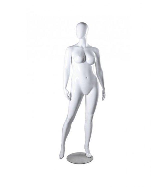 Female mannequin pus size, matte white fiberglass