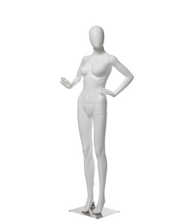 Mannequin femme en plastique blanc, choix de tête