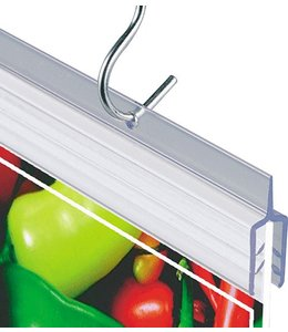 Banner hanger 22'' wide, accept material from 0.010'' to 0.050'' thick