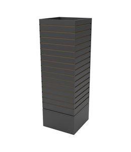 Rotating Cube Slatwall Merchandiser 16''x 16''x 60''H white, maple or black.