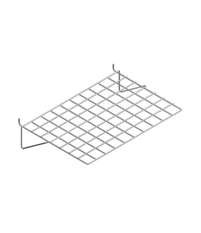 Flat wire shelf 20'' x 14'' for slatwall, black, white and chrome