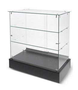 Full vision frameless glass display