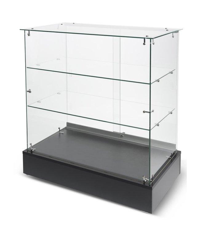 """Full vision frameless glass display-36""""x20""""x38"""""""