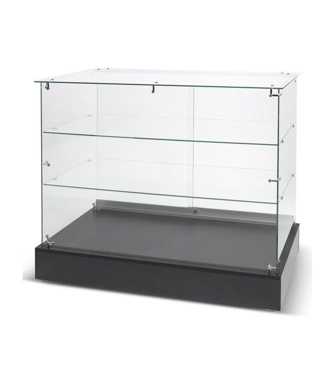 """Full vision frameless glass display - 48""""x20""""x38""""H"""