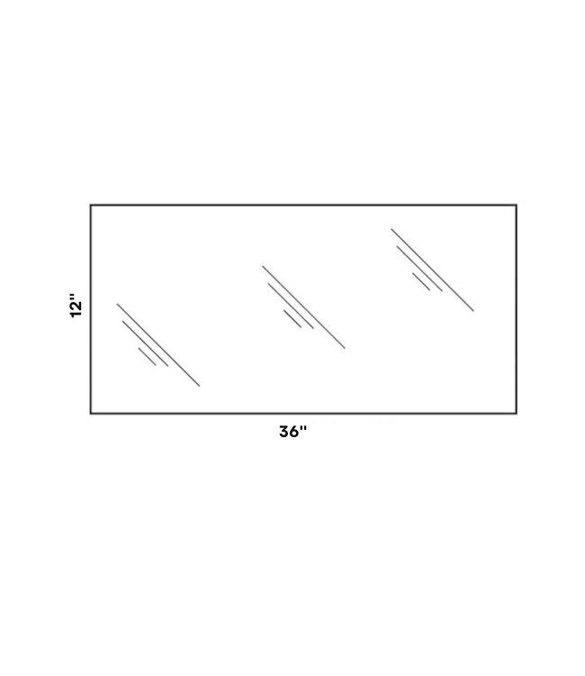 "12"" x 48"" x 5mm tempered shelf glass  - Copy"