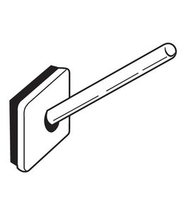 """Adhesive hook, angled, white 1-1/4"""" x 1-1/4"""" back, lenght 1-5/8''"""