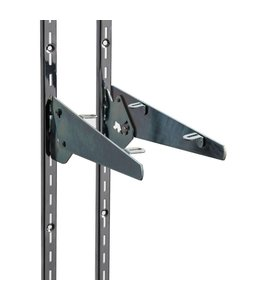 "Shelf bracket, adjustable 5 positions, slots 1/2""-1""oc"