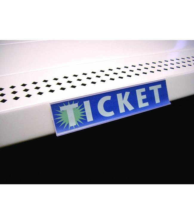 Porte-prix autocollant 48'' x 1¼'' H dos blanc et devant clair