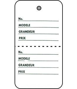 """Étiquette 2 parties FRANÇAIS 1.75"""" x 2.88""""H"""