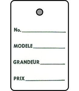 "1 part tag FRENCH 1.25"" x 1.75""H"