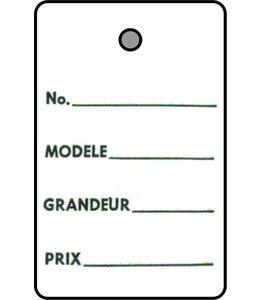 """Étiquette 1 partie FRANCAIS 1.25"""" x 1.75""""H"""