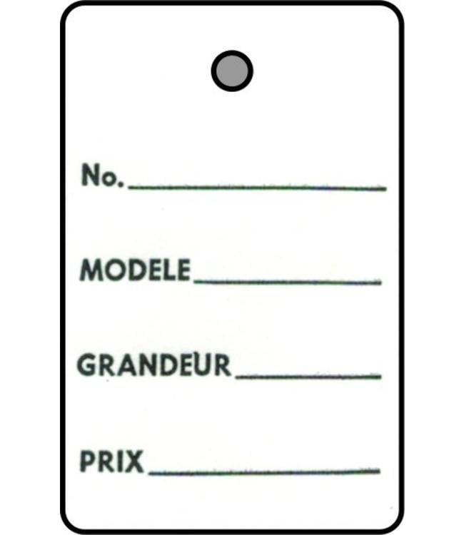"""Étiquette 1 partie FRANCAIS 1.25"""" x 1.88""""H"""