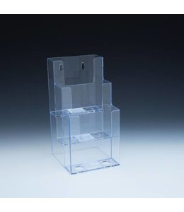 "3 level counter/wall/SW brochure holder 4-1/2""x5-1/2""x9""H"