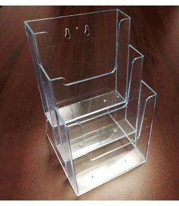 "3 level counter/wall/SW brochure holder 6-1/4"" x 6"" x 9-3/8""H"
