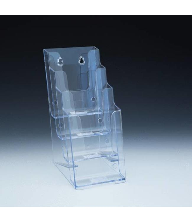 """4 level counter and wall brochure holder 4-1/8""""  x 6"""" x 10""""H"""
