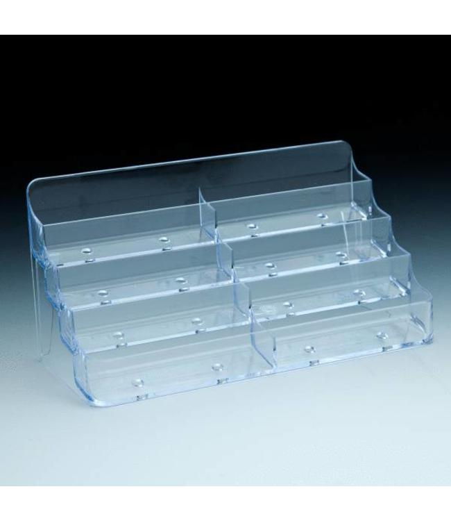 """Countertop card stand 8 pockets 8"""" X 3-1/2 X 4""""H"""