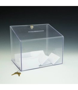 "Ballot box 11.5"" x 8.5"" x 9.5""H with lock"