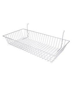"Basket 24""x12""x4""H slatwall/pegboard/grid"