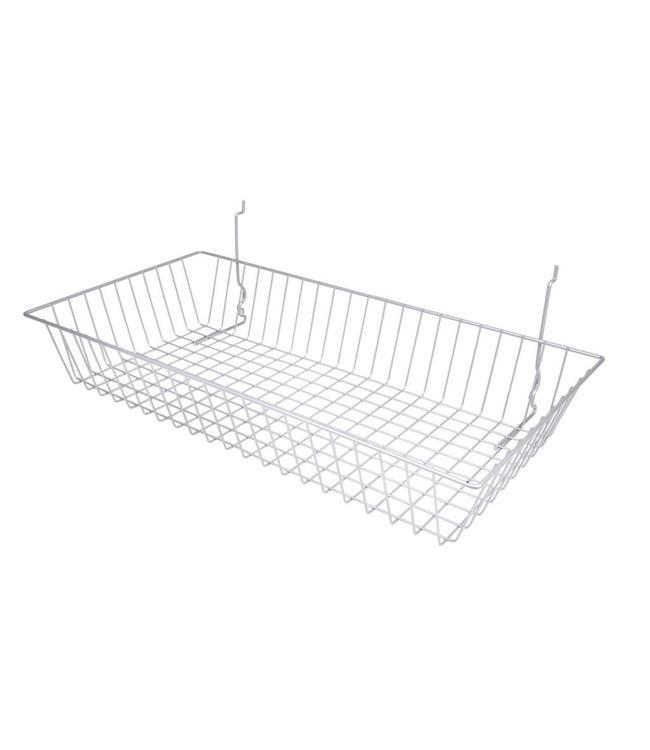 Panier 24''x12''x4'' slatwall/pegboard/grille