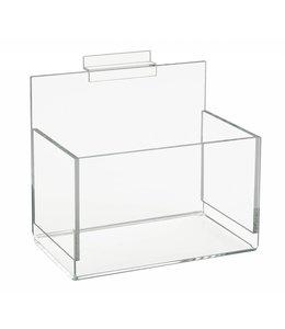 """Boîte acrylique 4-1/2"""" x 4-1/2"""" pour slatwall 8""""/12""""/18""""/24""""large"""