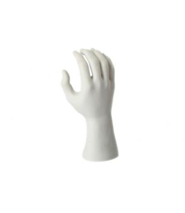 "Male's hand 9.5""H white or black pvc"