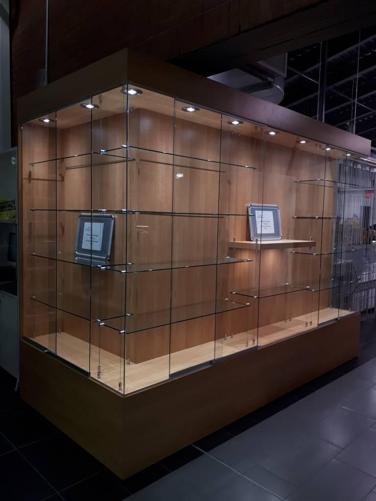 Custom glass display