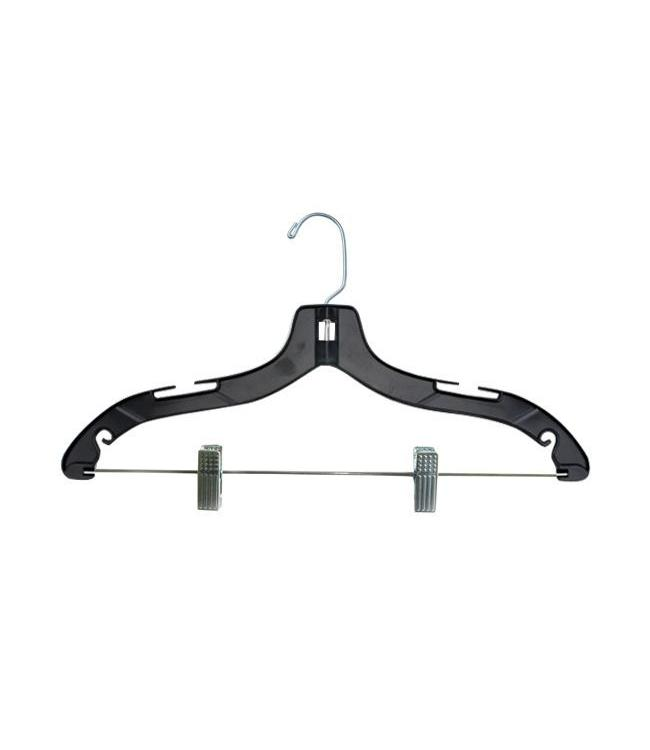 Plastic Hanger With Metal Clips 1417 Clear Or Black