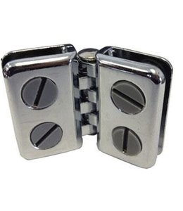 Metal double hinge chrome