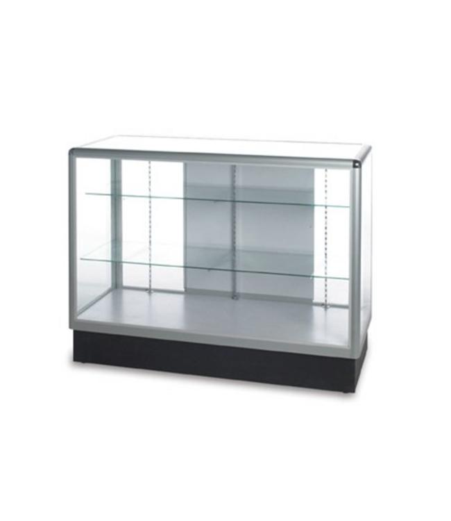 Comptoir vitré pleine vision aluminium