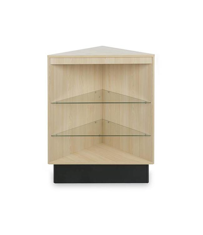 Open corner display case melamine